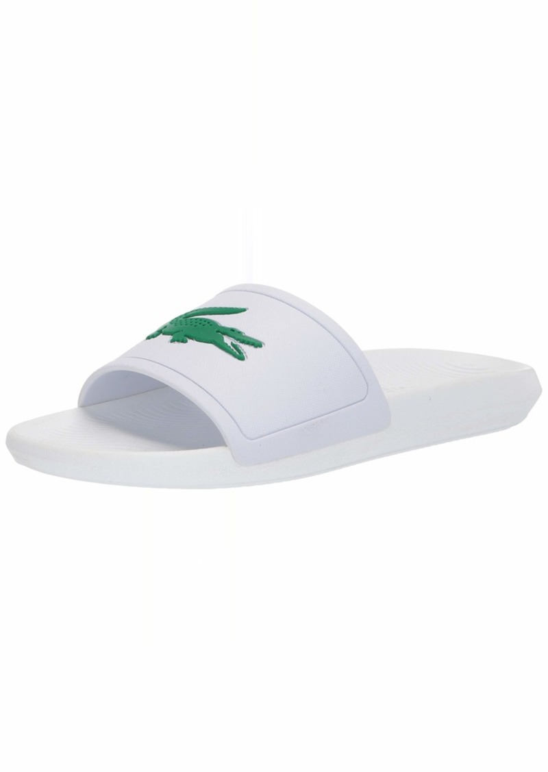 Lacoste Men's Croco Slide Sandal White/Green  Medium US