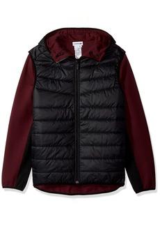 Lacoste Men's Doubleface Jersey Cotton Poly Hybrid Sweatshirt
