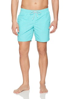 Lacoste Men's Elastic Waist Allover Logo Print Swim Trunk MH2768-51