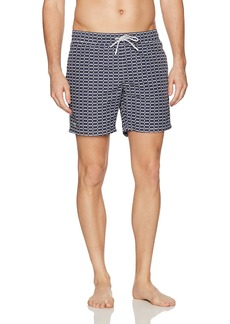 Lacoste Men's Elastic Waist allover Logo Print Swim Trunk MH2768-51  XL
