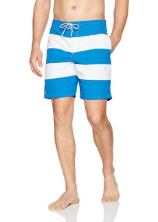 Lacoste Men's Elastic Waist Bold Stripe Swim Trunk MH2742-51