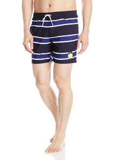 Lacoste Men's Elastic Waist Yazbuckey Stripe Swim Trunk MH5276-51