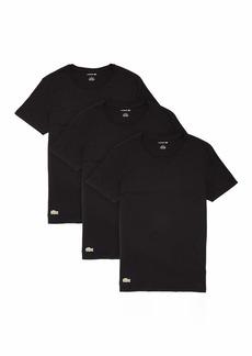 Lacoste Men's Essentials 3 Pack 100% Cotton Regular Fit Crew Neck T-Shirts  M