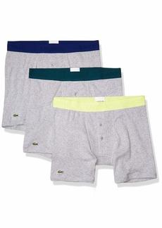 Lacoste Men's Essentials Classic 3 Pack 100% Cotton Boxer Briefs  L