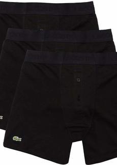 Lacoste Men's Essentials Classic 3 Pack 100% Cotton Boxer Briefs  S
