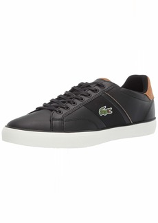 Lacoste Men's Fairlead Sneaker black/light brown 9.5 Medium US