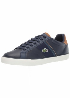 Lacoste Men's Fairlead Sneaker navy/light brown  Medium US
