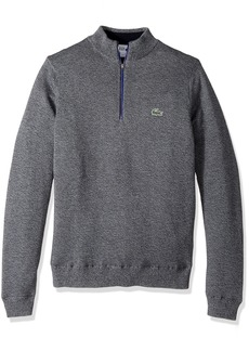Lacoste Men's Golf Technical Jersey Half Zip Sweater Moline/Navy Blue/Ocean