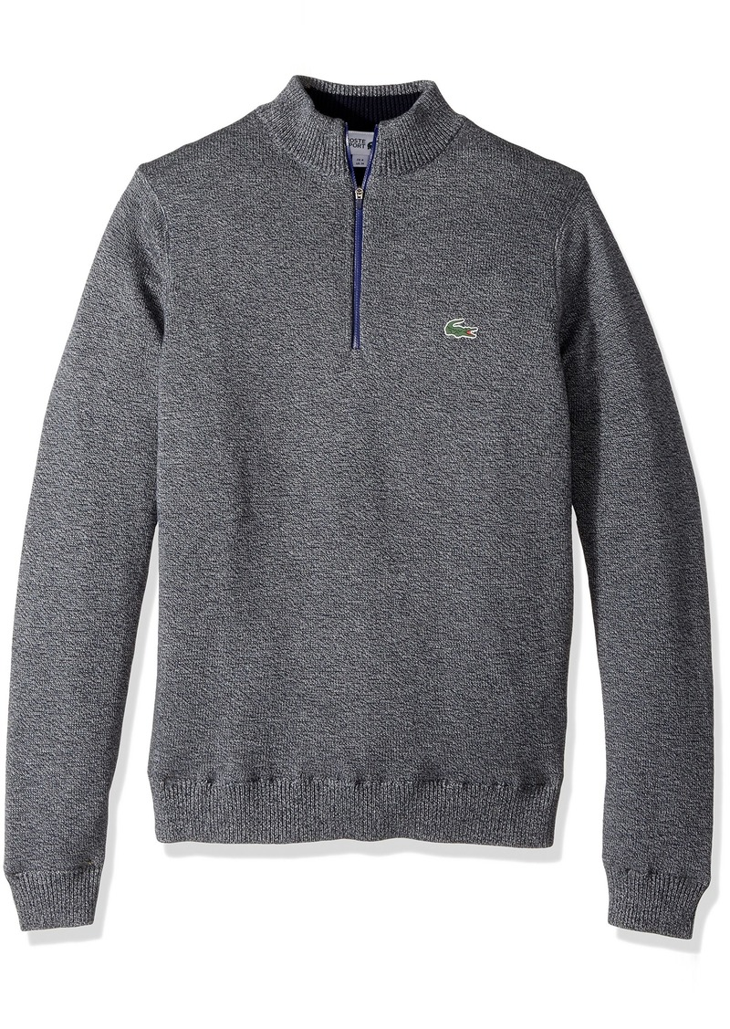 Lacoste Men's Golf Technical Jersey Half Zip Sweater Moline/Navy Blue/Ocean