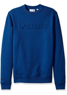Lacoste Men's Graphic French Terry Sweatshirt with Embossed Word  4X-Large