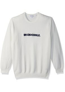 Lacoste Men's Graphic Pique & Cotton Sweater with un Crocodile Printed