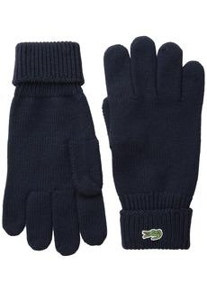 Lacoste Men's Green Croc Wool Gloves  M
