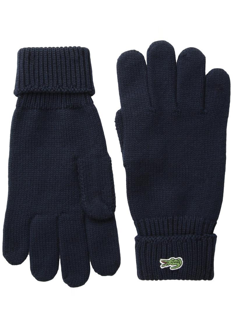 Lacoste Men's Green Croc Wool Gloves  S