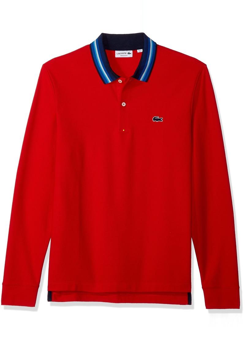 55fdfccc Lacoste Lacoste Men's Holiday Long Sleeve Slubbed Pique Polo-Regular ...