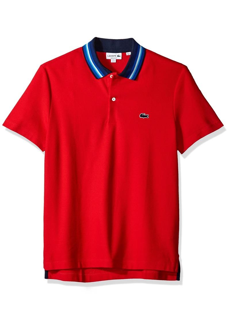 Lacoste Men's Holiday Short Sleeve Slubbed Pique Polo-Regular Fit