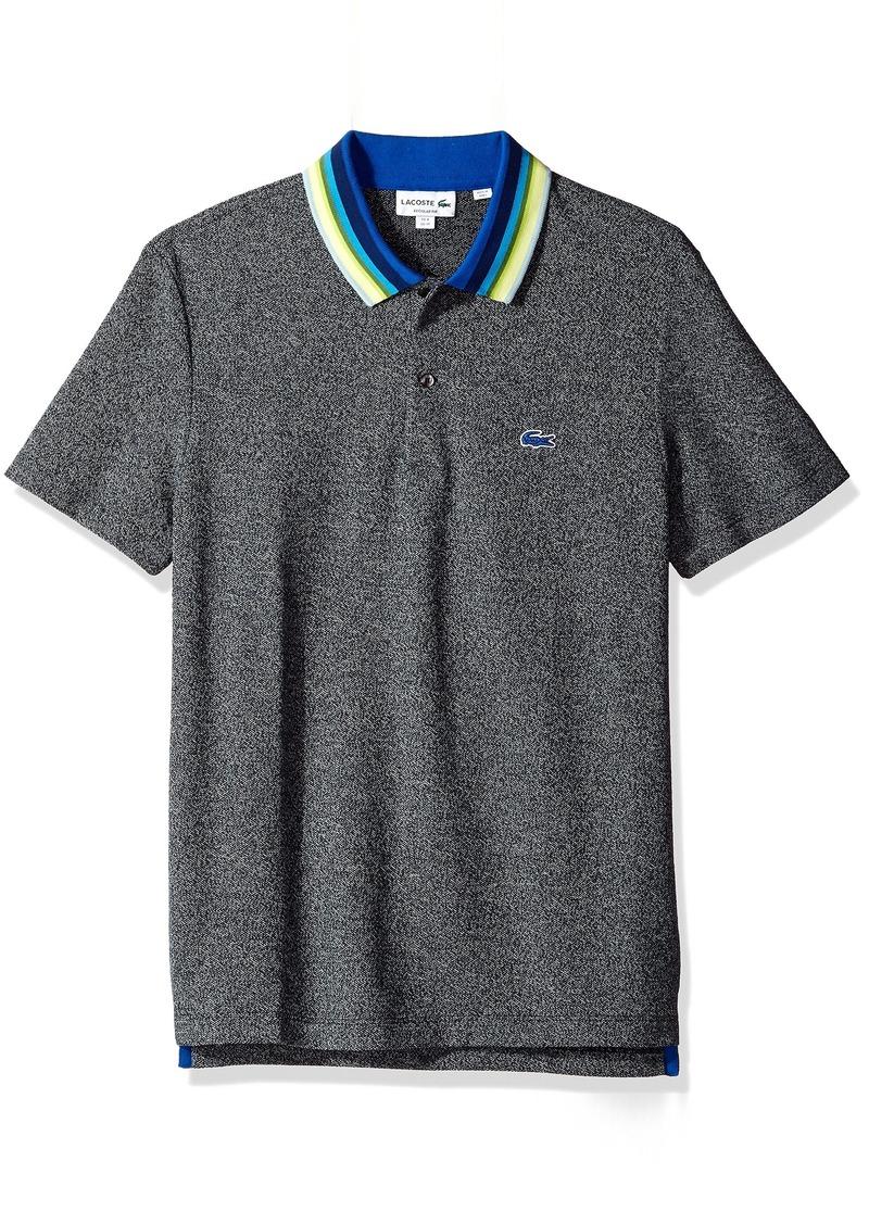 a601cbb1 Lacoste Men's Holiday Short Sleeve Slubbed Pique Polo-Regular Fit XL