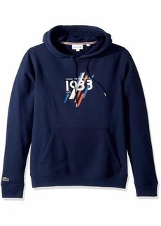Lacoste Men's Hooded 1933 Lettering Cotton Fleece Sweatshirt