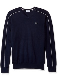 Lacoste Men's Jersey and Pique Sweater with White Outlined Croc  4X-Large