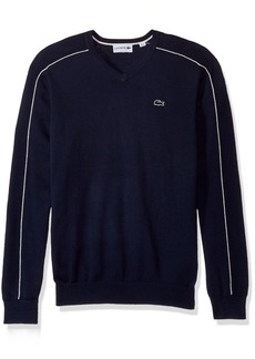 Lacoste Men's Jersey and Pique Sweater with White Outlined Croc