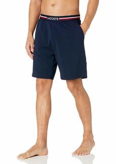 Lacoste Men's Jersey Cotton Pajama Shorts NAVY BLUE XL