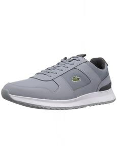 Lacoste Men's Joggeur Sneaker grey fabric 9.5 Medium US