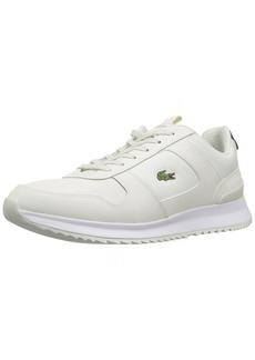 Lacoste Men's Joggeur Sneaker off White Fabric  Medium US