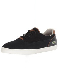 Lacoste Men's Jouer Sneaker Black tan Canvas  Medium US