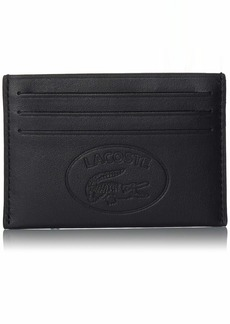 Lacoste Men's L.12.12 Casual Embossed Leather 6 Card Holder