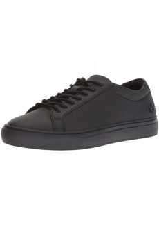 Lacoste Men's L.12.12 Sneaker Black Leather  Medium US