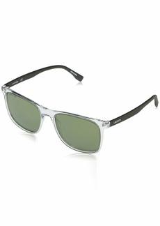 Lacoste Men's L882S-317 Sunglasses CRYSTAL/KHAKI