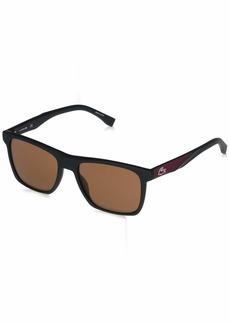 Lacoste Men's L900S-002 Square Sunglasses ONYX MATTE