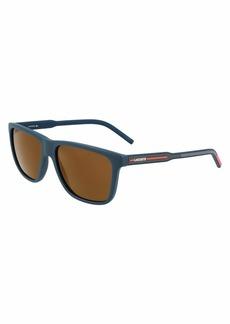 Lacoste Men's L932S-424 Sunglasses MATTE BLUE