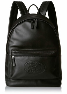 Lacoste Men's Leather Backpack with Badge Logo