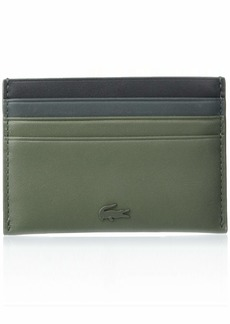 Lacoste Mens Leather Colorblock Card Holder