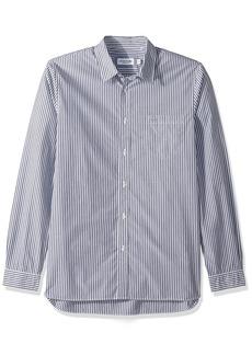 Lacoste Men's Long Sleeve Bengal Stripe Poplin Collar Reg Fit Woven Shirt CH5382