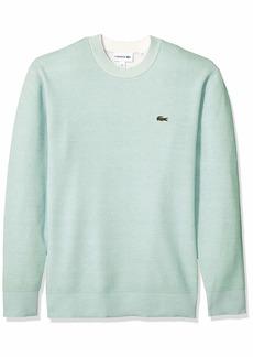 Lacoste Men's Long Sleeve BI-Colour Bird's Eye PIN Striped Sweater ASPERA/Flour