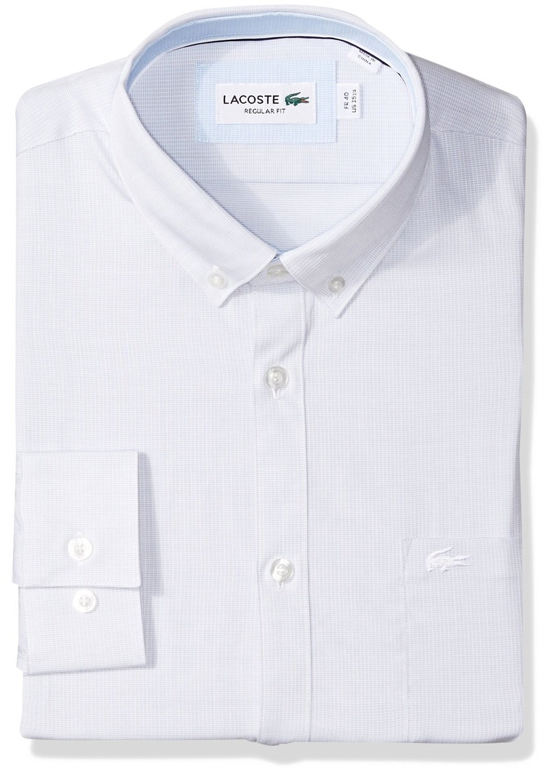 f1388497 Men's Long Sleeve Button Down With Pocket Textured Solid Poplin