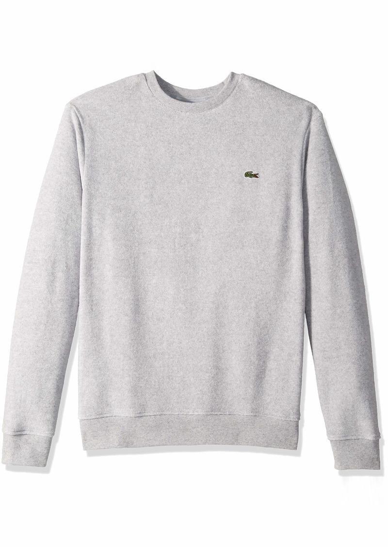 Lacoste Men's Long Sleeve Cashmere Crewneck Sweatshirt PLUVIER Chine