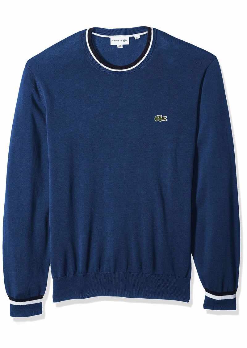 Lacoste Men's Long Sleeve Classics Semi Fancy Jersey Sweater