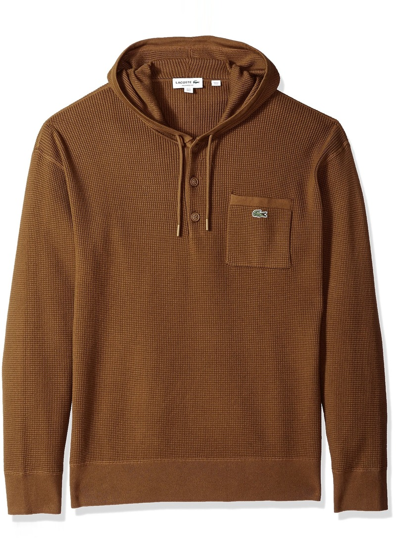 Lacoste Men's Long Sleeve Francy Stitch Waffle Hoodie Sweater Ah4084