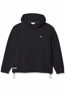 Lacoste Men's Long Sleeve Full Zip Drawstring Hoodie Sweatshirt  M