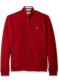 Lacoste Men's Long Sleeve Full Zip Pique Fleece Sweatshirt SH3292