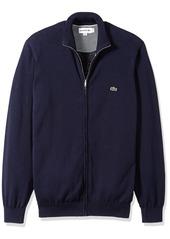 Lacoste Men's Long Sleeve Halfmoon Full Zip Jersey Sweater AH4085