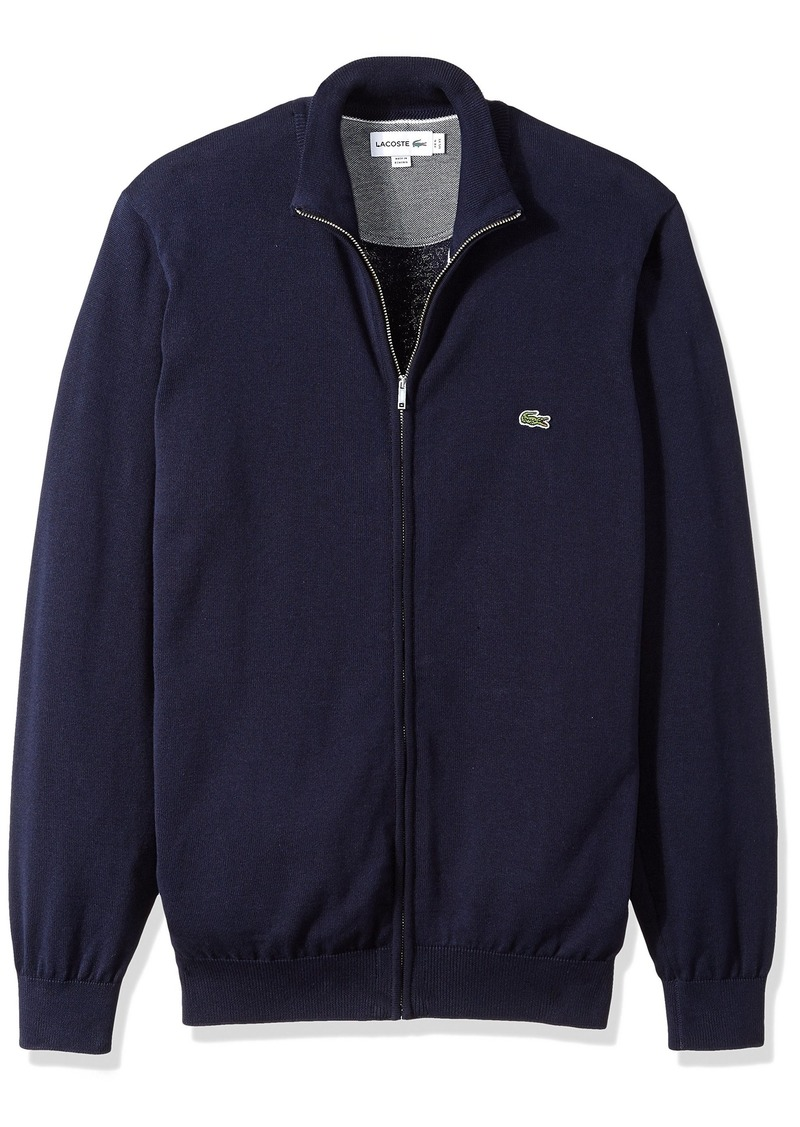 Lacoste Men's Long Sleeve Halfmoon Full Zip Jersey Sweater AH4085