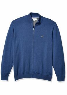 Lacoste Mens Long Sleeve Halfmoon Full Zip Jersey Sweater Sweater  3XL