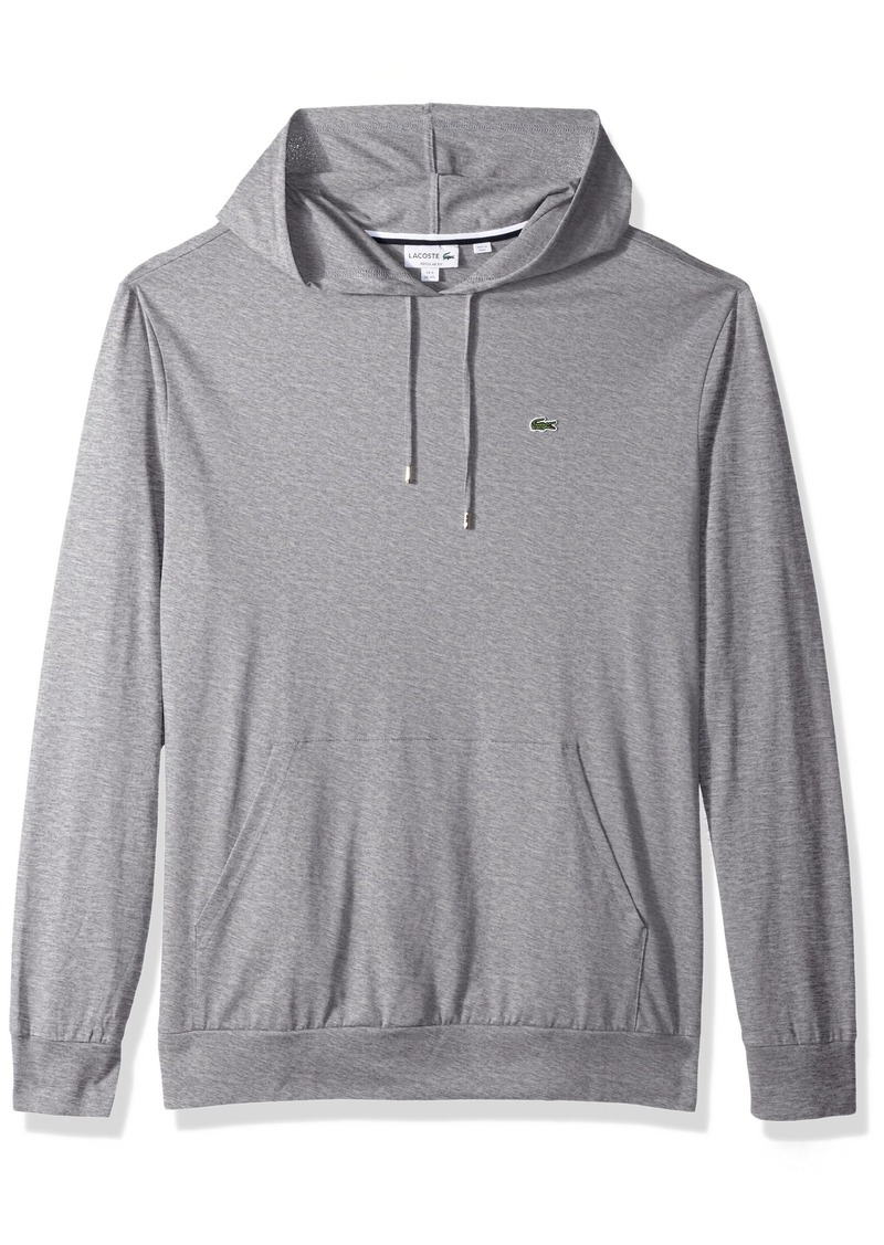 Lacoste Men's Long Sleeve Hooded Jersey Cotton T-Shirt Hoodie