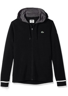 Lacoste Men's Long Sleeve Hoodie with Novak Back Graphic Sweatshirt SH6683