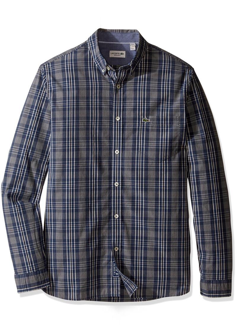 Lacoste Men's Long Sleeve Indigo Check CH9903-51