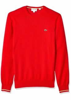 Lacoste Men's Long Sleeve Jersey Cotton Sweater red/Multi