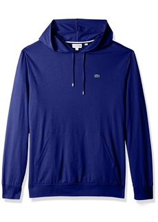 Lacoste Men's Long Sleeve Jersey Hoodie Tee with Central Pocket TH9349